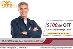 Avail Special offer- $100.00 Off On all Single Garage Doors in Houston