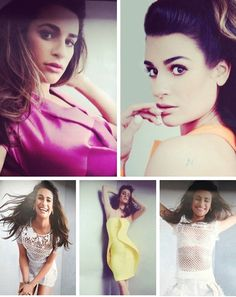 Lea Michele in Glamour UK 2014