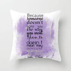 All I Have Throw Pillow by Art Works by BooSilva - $20.00