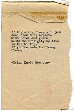 Typewriter Series #1899 by Tyler Knott Gregson Check out my Chasers of the Light Shop! chasersofthelight.com/shop