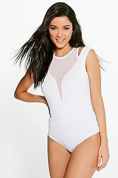 ¡Cómpralo ya!. Freya Mesh Panel Cut Out Detail Bodysuit. Day tops are a staple separate in every wardrobeMake your top pop this season with sporty, baseball-style basic tees in quilted finishes with ribbed, stripe trims. Crew necks come in block colours, crop tops with mesh inserts and long sleeve jersey staples with the hot-right-now high neck. Kick-start your casuals by layering them under out-there outerwear ? bomber jackets are best for teaming with a t-shirt, while duster coats take…