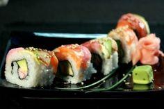 Rainbow Uramaki Sushi