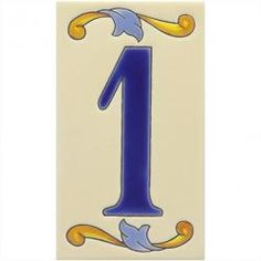 Valencia - Ceramic Mexican House Number Tile
