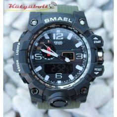 Smael duál kijelzős férfi karóra - Zöld szíjjal CK950591 Casio Watch, Watches, Sport, Accessories, Deporte, Wristwatches, Sports, Clocks, Jewelry Accessories