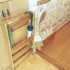 ベニア板/狭い玄関/廃材DIY/廃材利用/傘立てのインテリア実例 - 2016-06-15 10:57:42 | RoomClip(ルームクリップ)