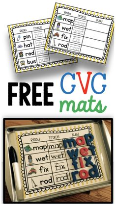 FREEBIE kindergarten cvc word worksheets word family practice