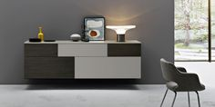 Incontro wall mounted sideboard by Sangiacomo