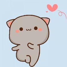 Cute Anime Cat, Anime Kitten, Kawaii Anime, Mini Drawings, Kawaii Drawings, Chibi Cat, Cute Cartoon Images, Cute Kawaii Animals, Cute Cat Wallpaper