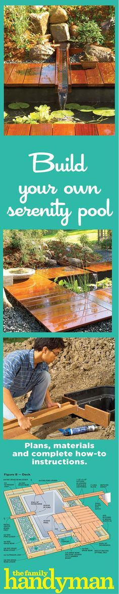 Let us show you how to add this easy-to-build pond and easy-care deck to your garden. This serene retreat can be built by a novice and doesn't require a lot of expensive tools, yet it offers a unique design. In this article, we'll show you the plans and techniques needed to construct the pond and deck. All it takes is some digging, simple assembly and this easy to follow DIY advice.