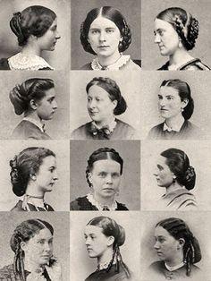 1860s hair tutorial - Google Search