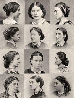 1860s hair tutorial - Google Search