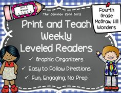 We created Print and Teach as a way for all staff in our school to successfully teach the weekly Leveled Readers. This product helps students to independently  think and respond to all weekly questions. All activities follow the questions and note taking activity in each Leveled Reader.