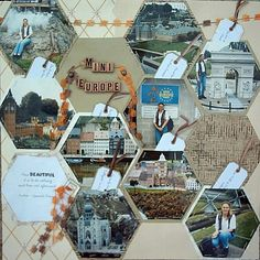 Travel and Vacation Scrapbook Page Layout Ideas
