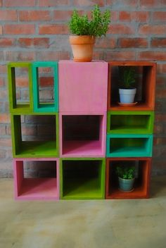 colored display boxes from Eco Furniture Design