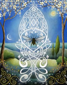 Sacred Bee  Art print by Amanda Clark by earthangelsarts on Etsy, $28.00    And this one for me, of course.