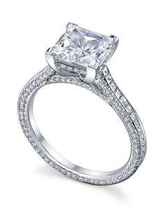 Michael B. paris channel set ring with princess center in platinum I Style: Paris Collection I https://www.theknot.com/fashion/the-paris-channel-set-ring-michael-b-engagement-ring?utm_source=pinterest.com&utm_medium=social&utm_content=june2016&utm_campaign=beauty-fashion&utm_simplereach=?sr_share=pinterest