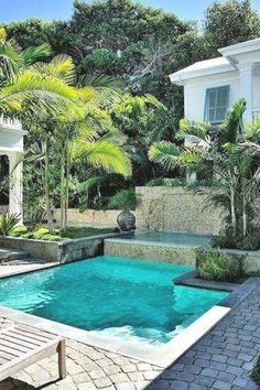 Small Swimming Pools, Swimming Pools Backyard, Swimming Pool Designs, Small Pools, Small Spa, Lap Pools, Indoor Pools, Backyard Pool Landscaping, Small Backyard Landscaping