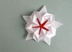 How to Make a Pentagonal Origami Star #origamistar #geometricorigami