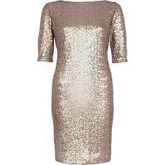 Gold sequin bodycon dress �60.00
