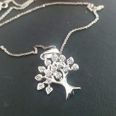 Life of tree necklace High polished very shiny 925 sterling silver necklace with 18 inches sterling silver chain. Brand new. 925 stamped. I offer %10 off bundle discount for 3 or more items  Jewelry Necklaces