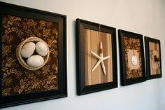 Fabric Frames - inspiration for easy wall redo!