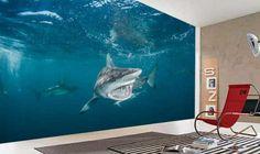 Shark Wall Murals | Underwater Wallpaper | wallpaperink.co.uk - Custom Wallpaper
