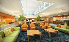 Healthcare Design Legacy: Michael Graves | Healthcare Design --- Skilled nursing facility prototype, Mainstreet Capital Development. The plan also creates a town square, which facilitates community interaction and creates lounges and casual gathering areas throughout the resident wings. Credit: Michael Graves Architecture & Design.