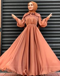 130 latest eid hijab styles with eid dresses – page 1 Modern Hijab Fashion, Hijab Fashion Inspiration, Abaya Fashion, Muslim Fashion, Modest Fashion, Fashion Dresses, Eid Dresses, Evening Dresses, Hijab Dress Party