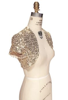 Ariella Brea Sequin Bolero   E D A Liked On Polyvore Featuring Outerwear Jackets Gold Women White Sequin Jacket Sequin Crop