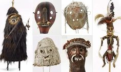 Traditional masks and ritual objects from Papua New Guinea highlands