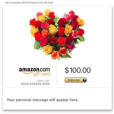Amazon Gift Card - Email - Flower Heart  Read more http://cosmeticcastle.net/gift-cards/amazon-gift-card-email-flower-heart  Visit http://cosmeticcastle.net to read cosmetic reviews