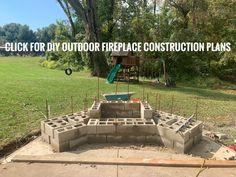 Outdoor Fireplace Plans, Backyard Fireplace, Fire Pit Backyard, Fireplace Ideas, Backyard Patio, Outdoor Life, Outdoor Living, Outdoor Decor, Backyard Projects