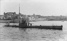 BRITISH SHIPS FIRST WORLD WAR (SP 578) HM Submarine H.4 at Brindisi, August 1916.