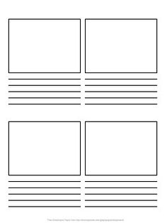 "Storyboard Paper - great option - students create ""graphic novel"" in lieu of reading response/summary"