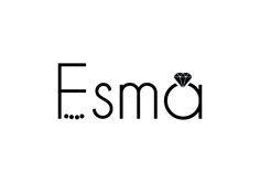 Logo design for jewellery brand ESMA.  #logo #digitaltadka #graphicandwebstudio #branding #blackandwhite #ESMA #diamond