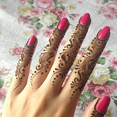 Unique mehndi design for finger awesome for beginners #mehndi #mehndidesign #henna