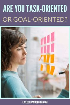 Are you someone who looks more of the present instead of looking at the big picture? Read this post of task-oriented vs. goal-oriented and determine what you are. Good Habits For Kids, Mission Statement Examples, Timer App, Habit Quotes, Passion Quotes, Specific Goals, You Better Work, Life Purpose, Big Picture