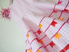 Vestido de festa junina xadrez rosa 005