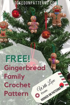 Gingerbread Man Free Crochet Pattern - Hooked On Patterns