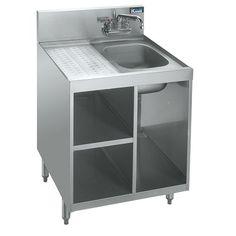 Underbar Glass Storage Cabinet with Sink- Royal 1800 Series
