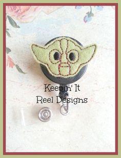 Star Wars Yoda Badge Reel  Nurses Badge Reel  by SandEAccessories, $6.00 #Starwars #Yoda