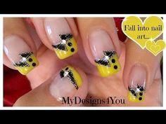 Fun, Black and Yellow French Tip Nail Art #tutorial #nailart Download #beautyapp - bellashoot to see more!