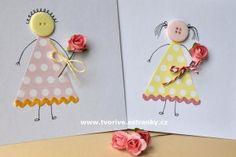 Přáníčko ke Dni matek Spring Crafts For Kids, Pre School, Homemade Cards, Card Making, Easter, Party, How To Make, Home Craft Ideas, Ideas