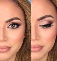 Neutral Eyeshadow + Nude Lips + Classic Liner + Blush