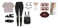 """Monday"" by isabellasmall on Polyvore featuring Topshop, Lime Crime, Jeffrey Campbell, Bella Freud, ChloBo and GRETCHEN"