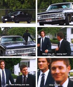i love all the funny moments written into this show...and j&j make it so believable #spn #racing