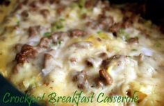 Slow Cooker Sausage Breakfast Casserole - prepare it the night before and it will cook while you're sleeping. Breakfast will be ready for you when you wake up.