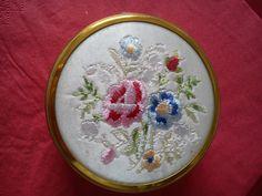 embroidered trinket box