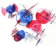 Grafická technika - barevná tuš a špejle :: petr švarc