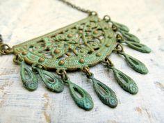 Gypsy Dancer Patina Bohemian necklace